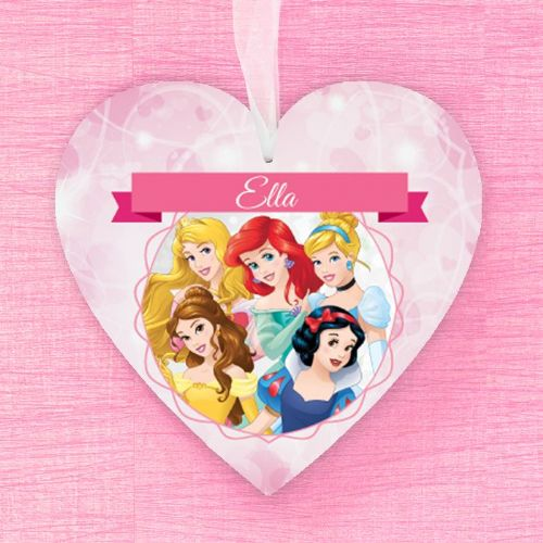 Disney Princess Personalised Hanging Heart